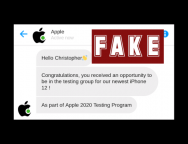 "Sophos Discovers SMS Phishing Scam that Pretends to be Apple ""Chatbot"" Don't Fall for it!"
