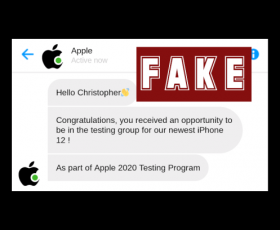 """Sophos Discovers SMS Phishing Scam that Pretends to be Apple """"Chatbot"""" Don't Fall for it!"""