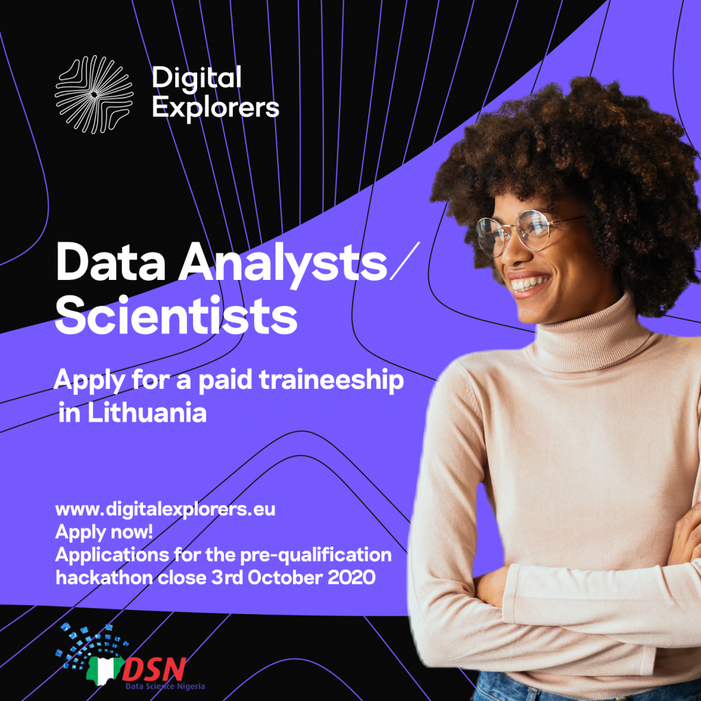 Nigerian Female Data Analysts Can now Apply for Digital Explorers 6-Month Paid ICT Training in Lithuania