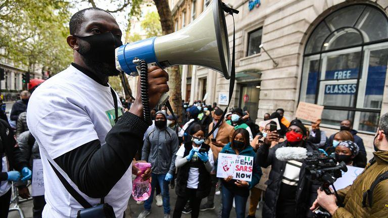 #EndSARS protest, London