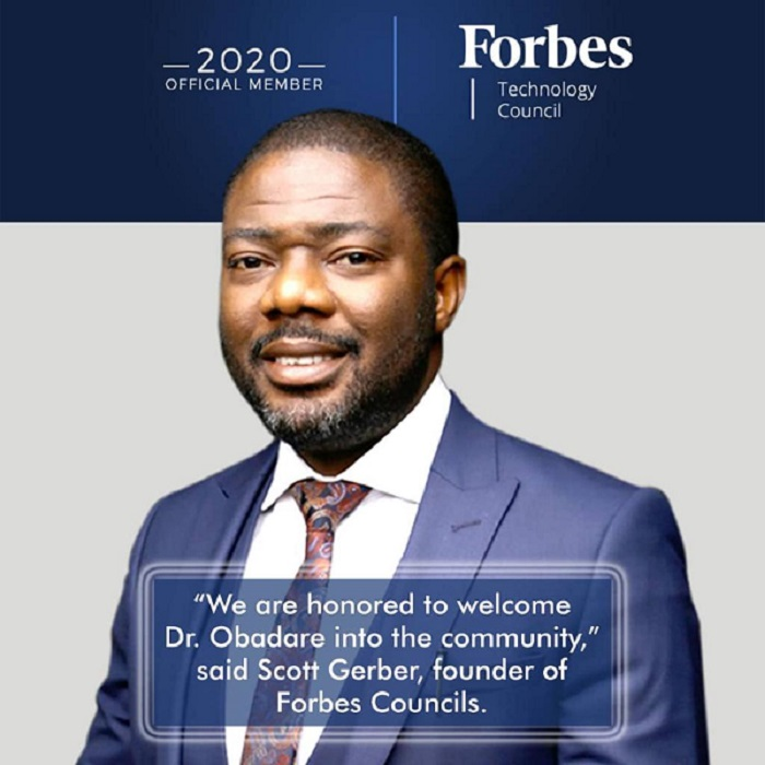 Digital Encode's Co-founder, Peter Obadare accepted into Forbes Technology Council