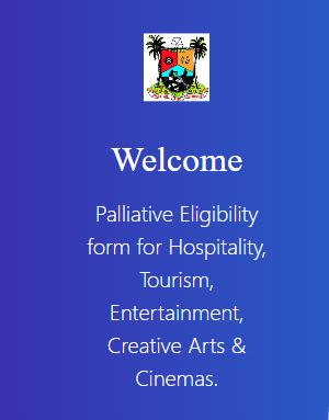 Screenshot of N1billion Lagos state palliative eligibility form for businesses