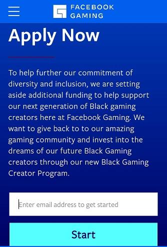 Facebook gaming for black creators