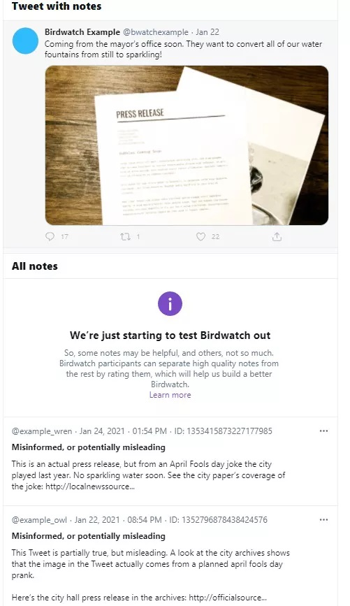 Twitter Intensifies Fight Against Misinformation with Birdwatch, a fact-checking program