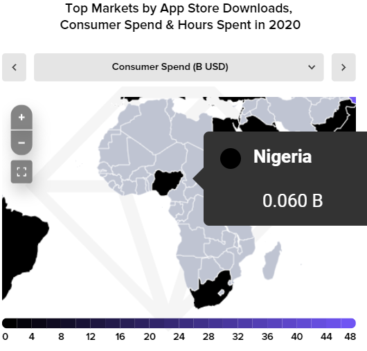 Nigerians Spent Over $60 Million on Apps in 2020 - APP ANNIE