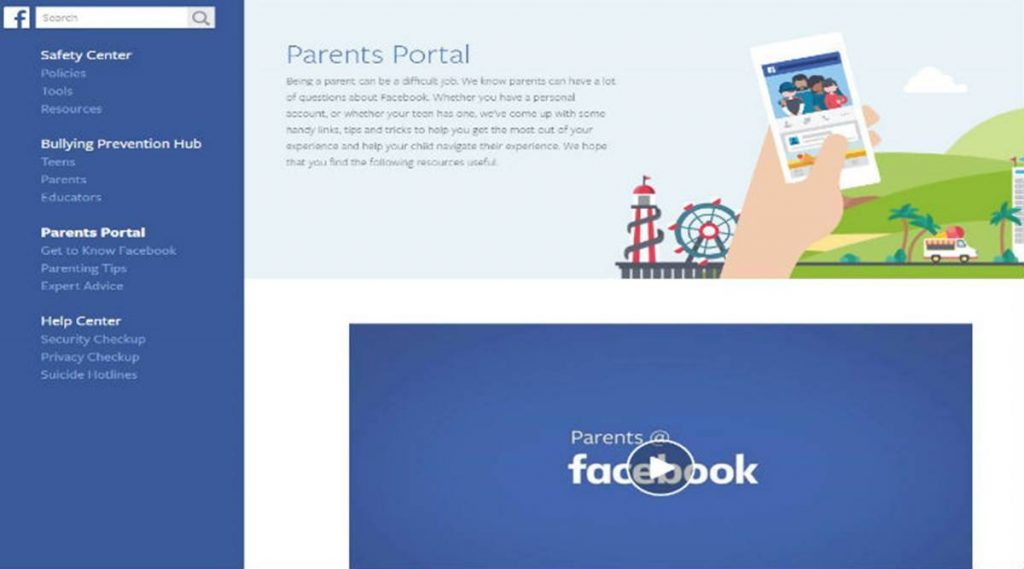Facebook's Parents Portal