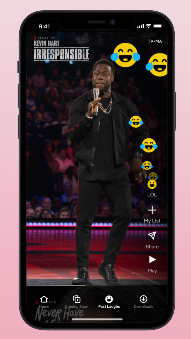 Netflix's Fast Laughs,' Lets You Enjoy TikTok-like Clips of Funny VideosNetflix's Fast Laughs,' Lets You Enjoy TikTok-like Clips of Funny Videos