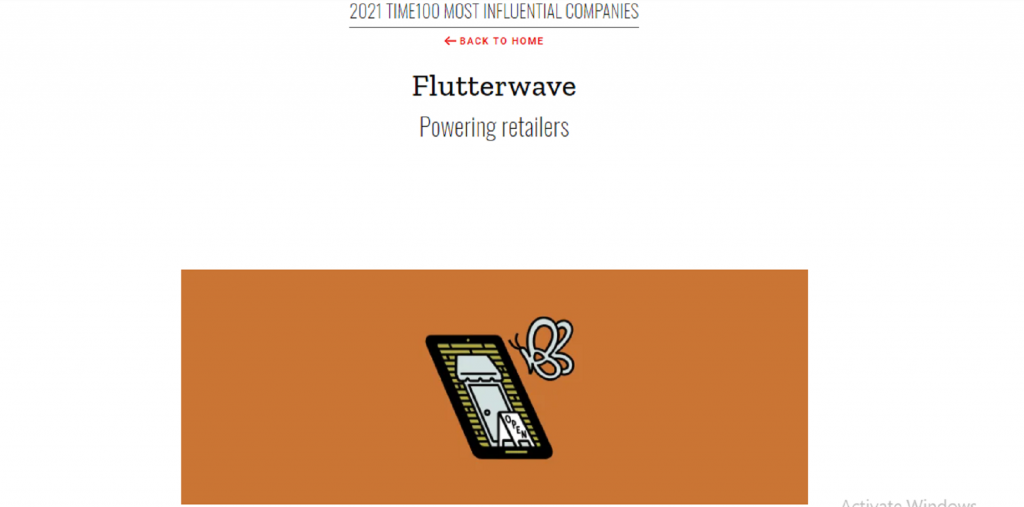 Flutterwave Named as 'Pioneers' in 2021 TIME's Most 100 Influential Companies