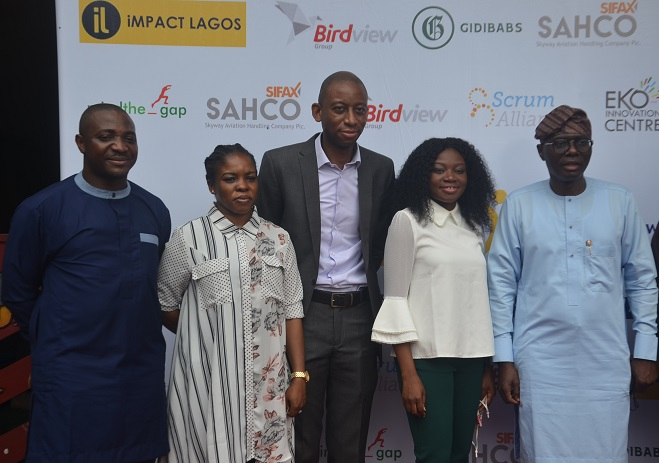 -L-R- Victor Gbenga, Founder, Eko Innovation Centre, Abisola Olusanya, Lagos State Commissioner for Agriculture, Tunbosun Alake, Special Adviser, Innovation and Technology to the Governor of Lagos State and Aanu Gopald, Founder, Africa Agility