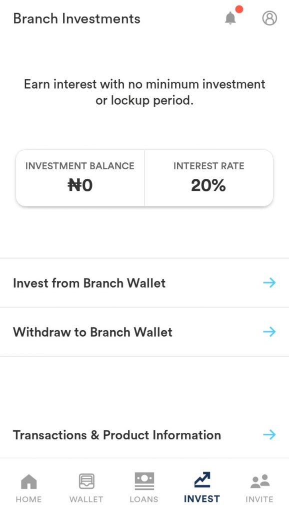 Branch app grants speedy access to investments at 20% returns, free unlimited money transfers and low-interest loans