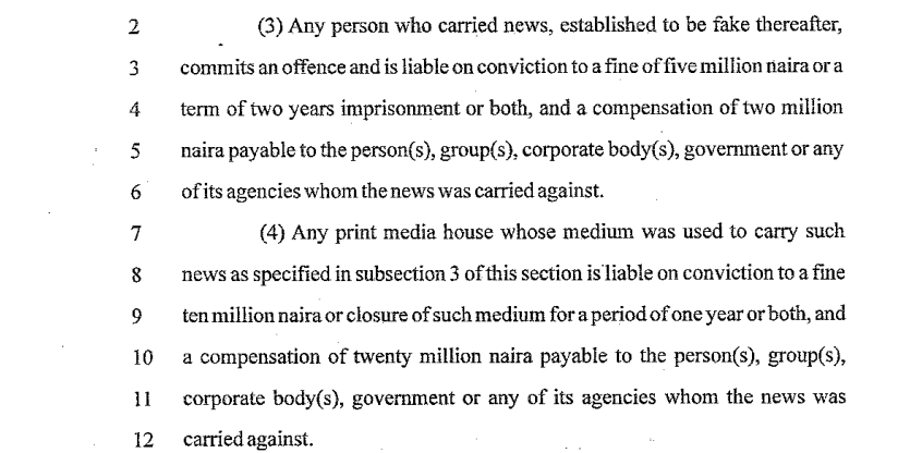 Journalist to pay N250K, serve 3yrs imprisonment for violations under new Media bill; Here's an analysis