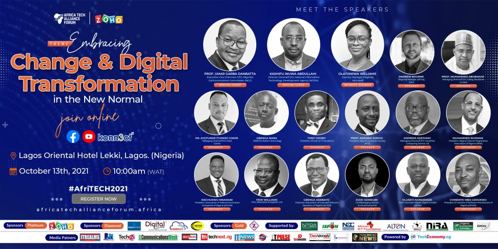 #AfriTECH2021: Organizers announce NCC, NITDA, GBB, Zoho, others as sponsors