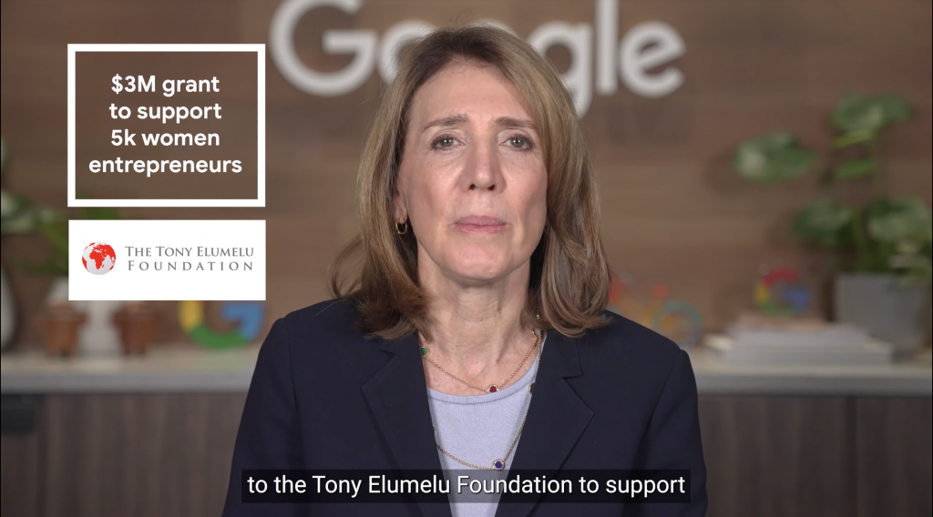 Google's grant of $3m to the Tony Elumelu foundation
