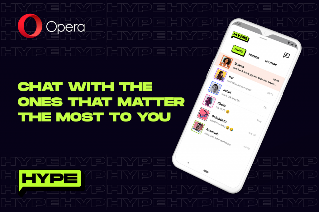 Opera Mini adds a chat platform for customers with limited data plans.